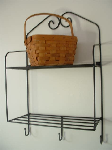 black wrought iron wall shelves usa made ebay