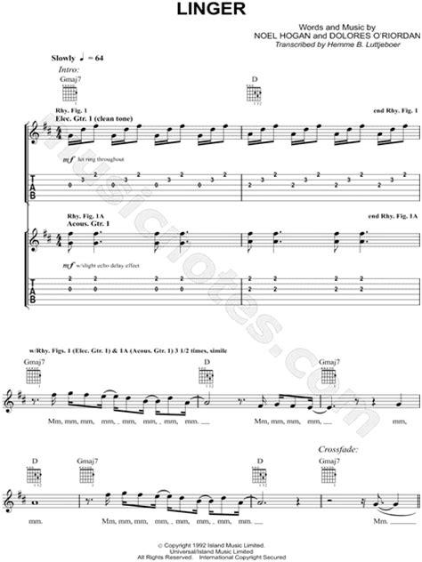 tutorial de zombie the cranberries guitarra the cranberries quot linger quot guitar tab in d major download