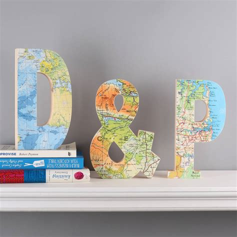 Wedding Anniversary Locations by Map Location Wooden Letters Wedding Anniversary Gift By