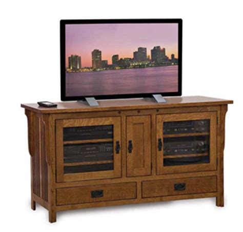 amish mission rustic tv stand plasma flat screen cabinet royal mission 3260 60 quot tv stand amish furniture factory