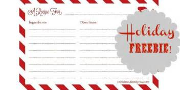 Free Christmas Recipe Card Template Free Printable Recipe Cards Celebrations At Home