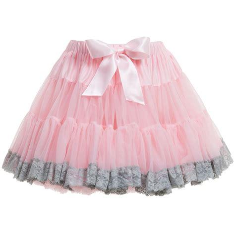Rok Tutu Lace Ribbon 1 s pale pink chiffon lace trim tutu skirt