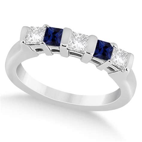 White Topaz 5 56ct Tp1650328 5 blue sapphire princess ring 14k white