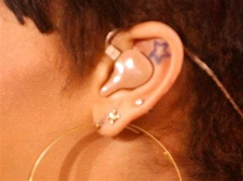 rihanna star tattoo rihanna s inside ear