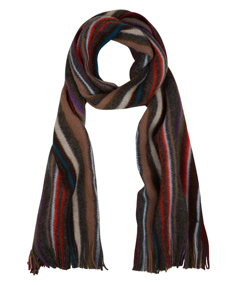 cable knit scarves lyst paul smith cable knit scarf for