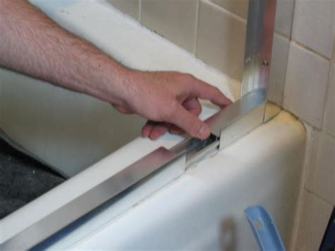 Shower Door Tracks Replacement How To Replace A Shower Door How Tos Diy