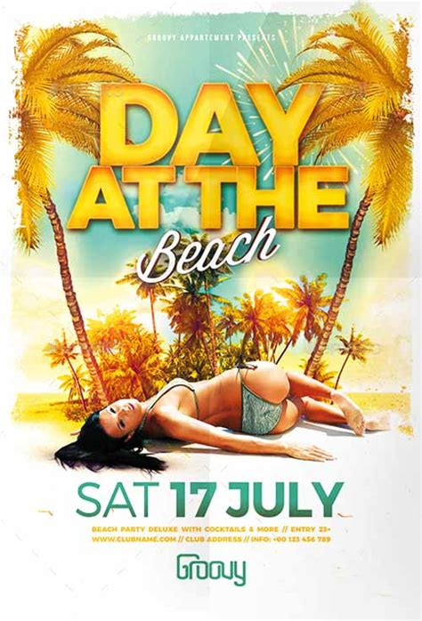 template flyer beach ffflyer download the day at the beach flyer template