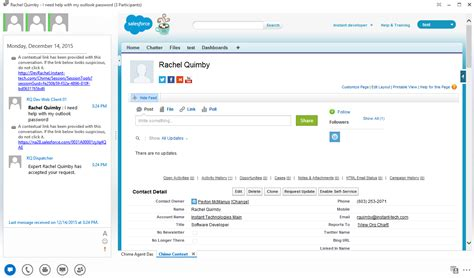 Salesforce Service Desk by Integrate Skype4b And Salesforce Chime For Lync Skype