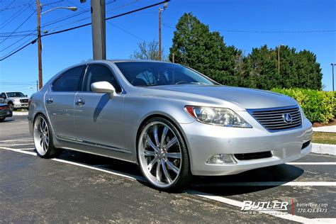 lexus ls custom lexus ls 460 custom wheels vellano vti 24x et tire size