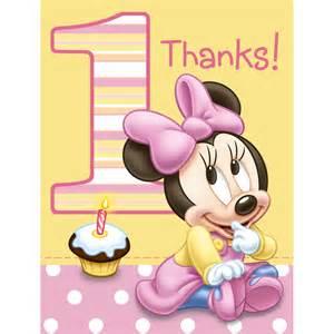 1st birthday minnie s 1st birthday thank you notes 8ct