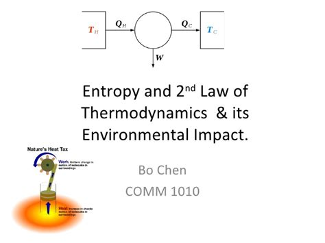 energy its use and the environment energy entrophy the 2nd of thermodynamics and how it