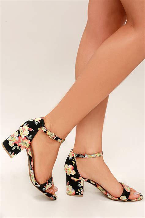 coloured patterned heels women s pumps peep toe pumps platform pumps lulus com
