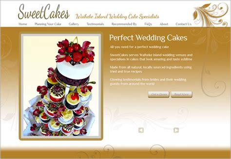 wedding cake websites sweetcakes wedding cakes website purple design