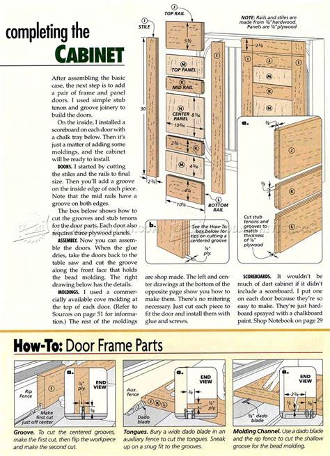 Dartboard Cabinet Plans ? WoodArchivist