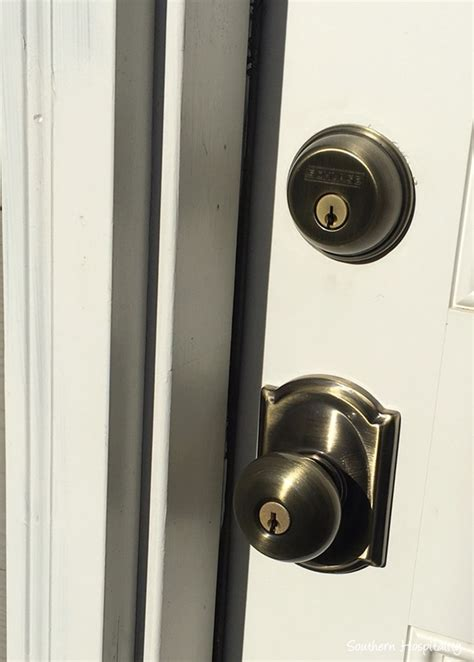Schlage Exterior Door Hardware Door Hardware Schlage Brushed Nickel Schlage Accent Left Dummy Lever Satin Nickel