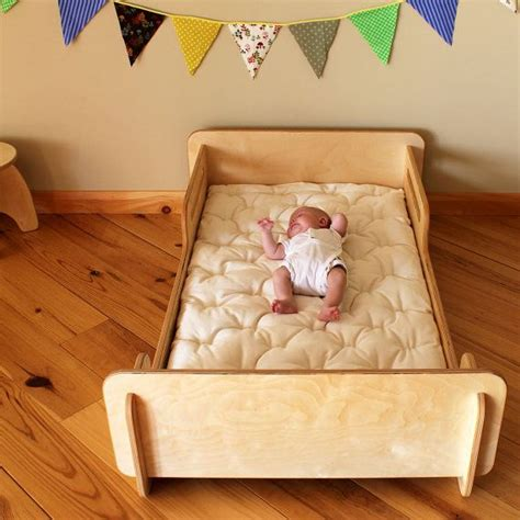 toddler floor bed natural crib sized montessori style infants bed mattress
