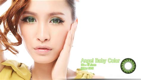 Baby Colour 172mm Free Lenscase softlens baby color green 17 2mm softlens