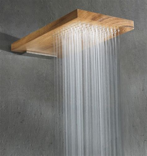 wood shower head by rare terra marique