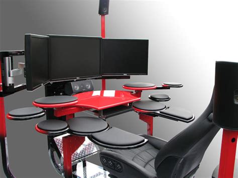 high tech computer desk top 5 hi tech workstation designs concepts