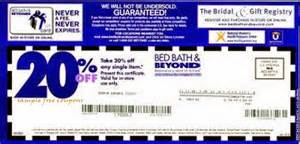 Bed Bath Andbeyond Coupon Bed Bath And Beyond Coupons September 2014