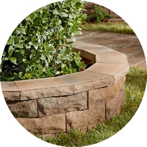 garden blocks for retaining wall shop pavers retaining walls at lowes