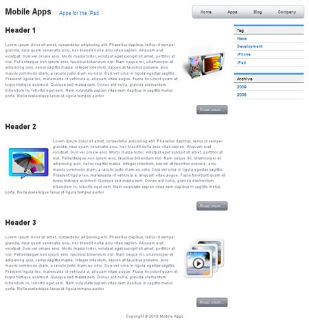 dreamweaver app templates mobile apps template templates dmxzone