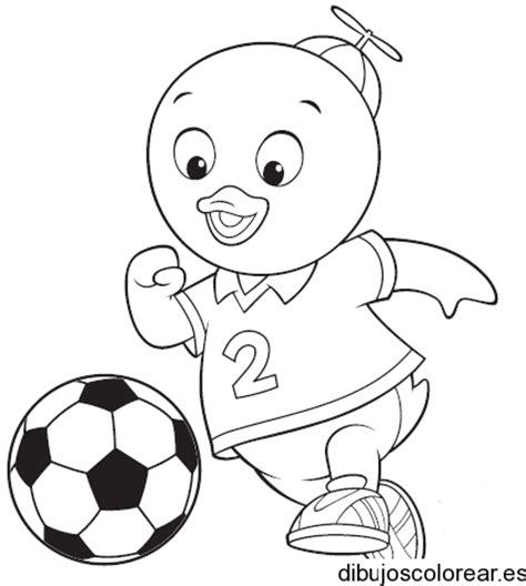 coloring book vs of pablo dibujo de un patito jugando futbol
