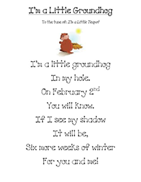 groundhog day poetry groundhog s day literacy activities
