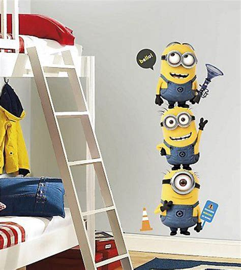 bedrooms with minions wallpaper