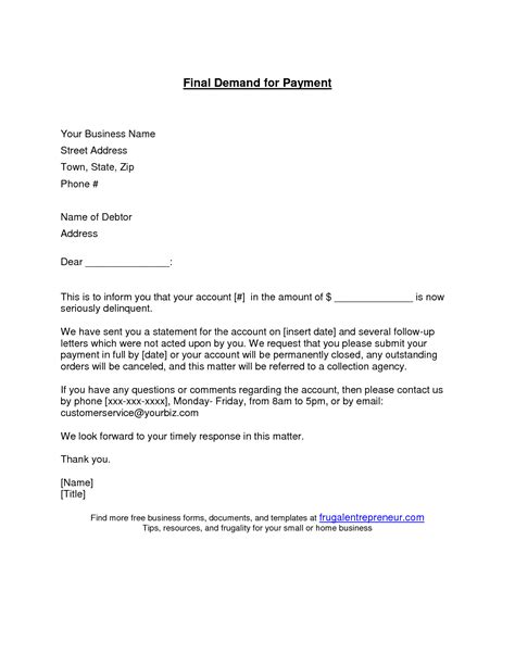 Demand Letter Of Payment Best Photos Of Sle Demand Letter Template Sle Demand Letter Exle Sle Demand