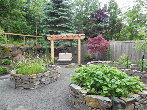 Growing Vegetables In Backyard Natural Stone Raised Planting Beds Sublime Garden Design