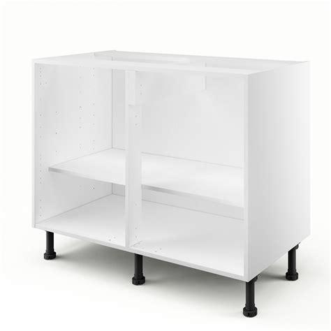 meuble sous evier 100 cm caisson de cuisine bas b100 ab100 delinia blanc l 100 x
