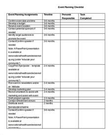 conference event planning checklist template event planning checklist 11 free word pdf documents