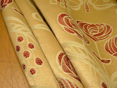 mackintosh curtain fabric rennie mackintosh gold wine thick jacquard curtain