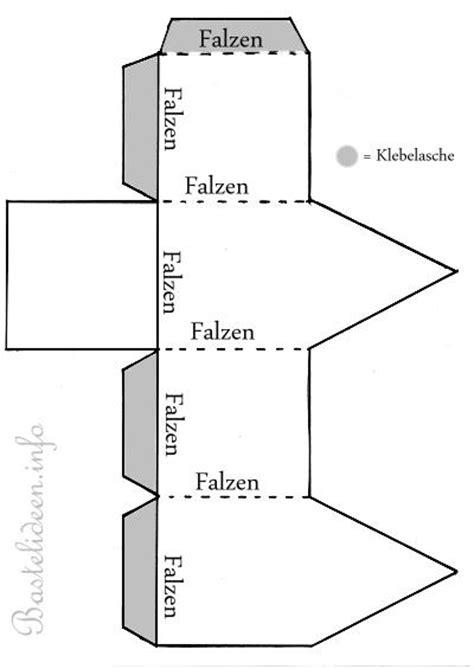 haus aus papier selber basteln kostenlose bastelvorlage teelichthaus 2