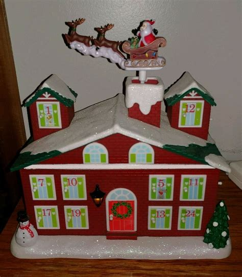 lighted avon houses avon animated lighted countdown to house musical lights up plays ebay