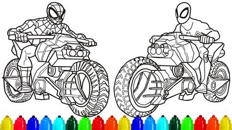 motorcycle coloring pages motorcycle coloring pages superheroes motorbike