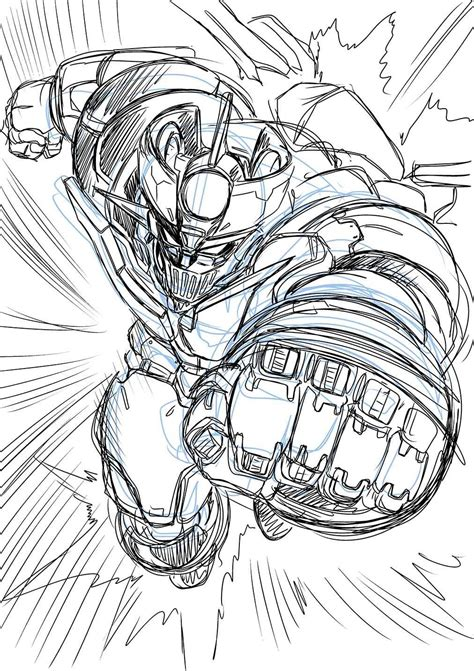 Mazinger Z Drawing by Mazinger Z Sketch Israelinox Caricaturas