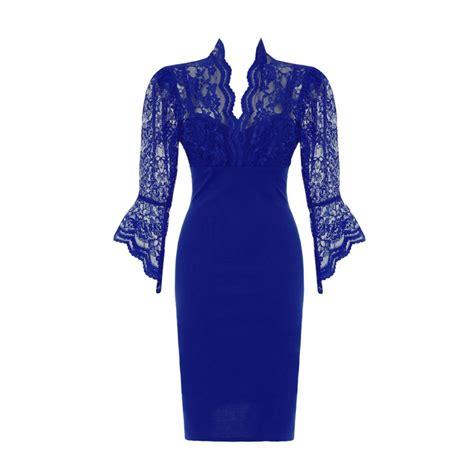 lace sleeve dress blue lace sleeve dress