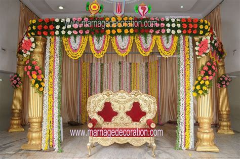 Simple wedding stage decoration with flowers luxury flower