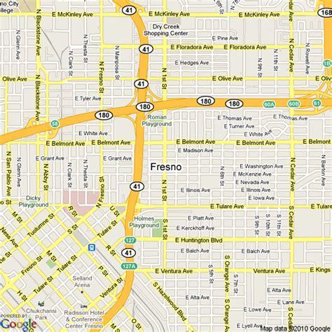 fresno on california map map of fresno california united states hotels