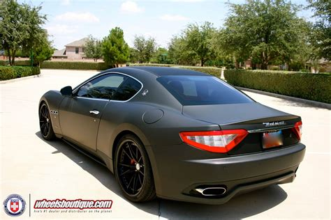 maserati gt matte black matte black maserati granturismo on hre s101 s warning