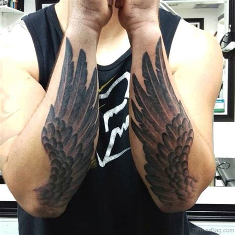 wing tattoo on forearm 30 awesome wings tattoos on arm