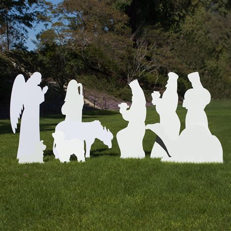 large silhouette outdoor nativity set 9 piece add on set