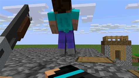 How To Make A Minecraft Person Out Of Paper - person shooter minecraft animation
