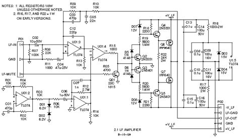 5 1 subwoofer circuit diagrams wiring diagram with
