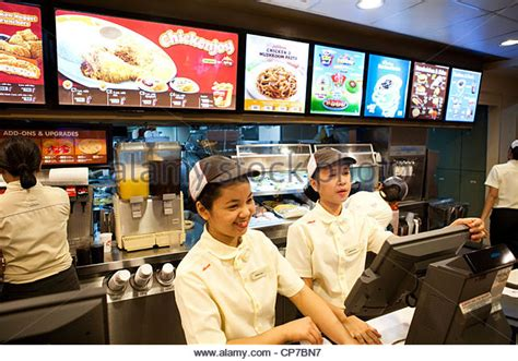 fast food cashier stock photos fast food cashier stock