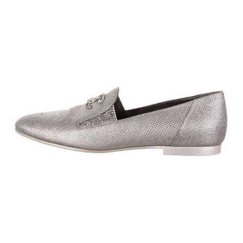 polyvore loafers chanel metallic loafers 400 liked on polyvore featuring