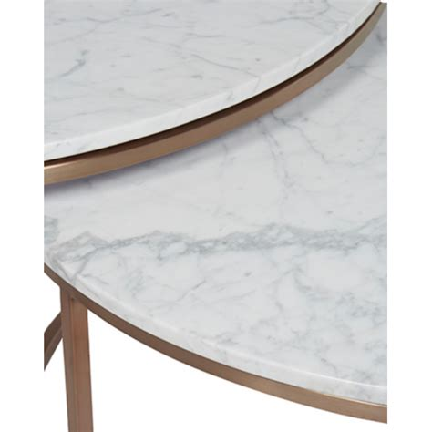 marble nesting coffee table nesting coffee tables white marble brass tables
