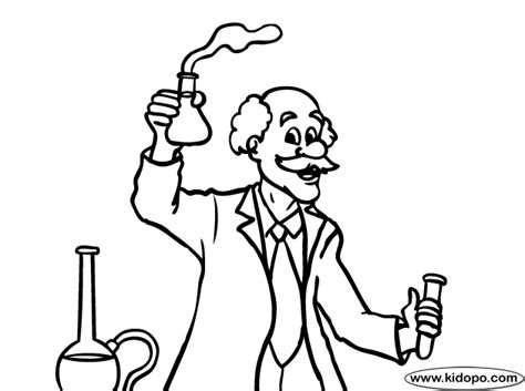 Free Mad Scientist Coloring Pages Scientist Coloring Page